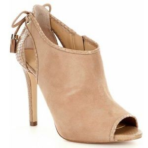 MICHAEL KORS JENNINGS SUEDE LEATHER SNAKE SHOES